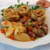 Штрудли с мясом и картошкой рецепт с фото пошагово