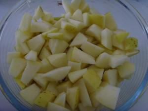 Постный пирог с соевым молоком и яблоками
