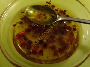 Салат из манго с ветчиной и свежим сыром