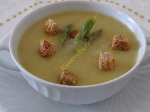Постный суп-пюре из спаржи
