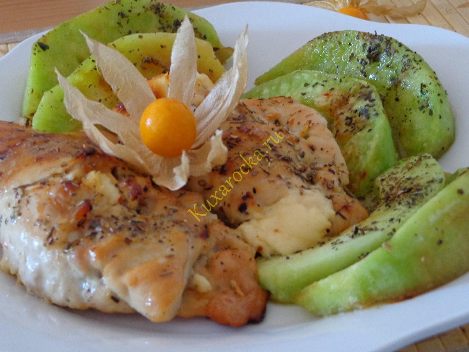 рецепт из курицы грибов плавленного сыра