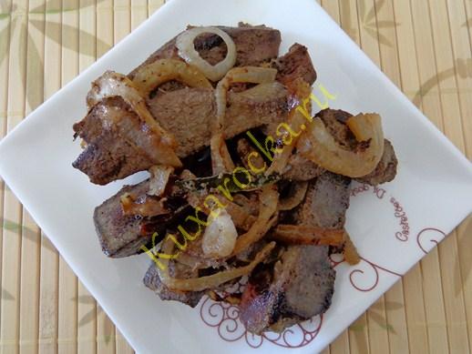 свиная печень жареная рецепт с фото