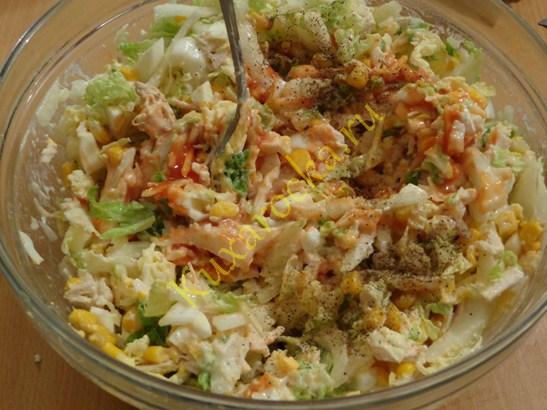 пекинский салат рецепт с кукурузой и яйцом