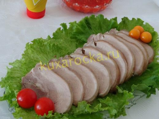 Вареный свиной рулет рецепт с фото